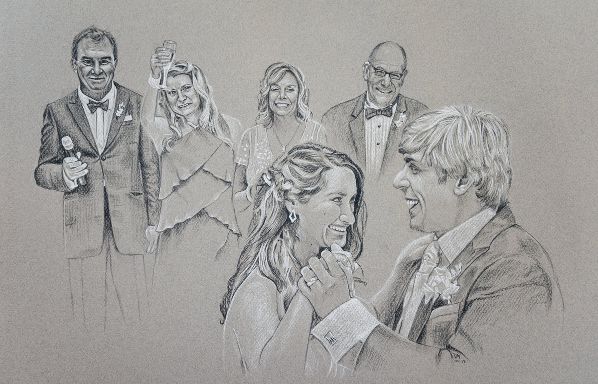 2013-11 Megan + Brian's Wedding Drawing Reproduction Jpeg 4014-2