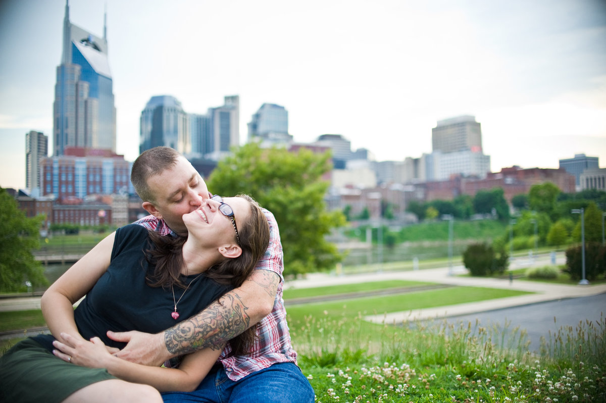 Nashville Skyline Engagement Photography