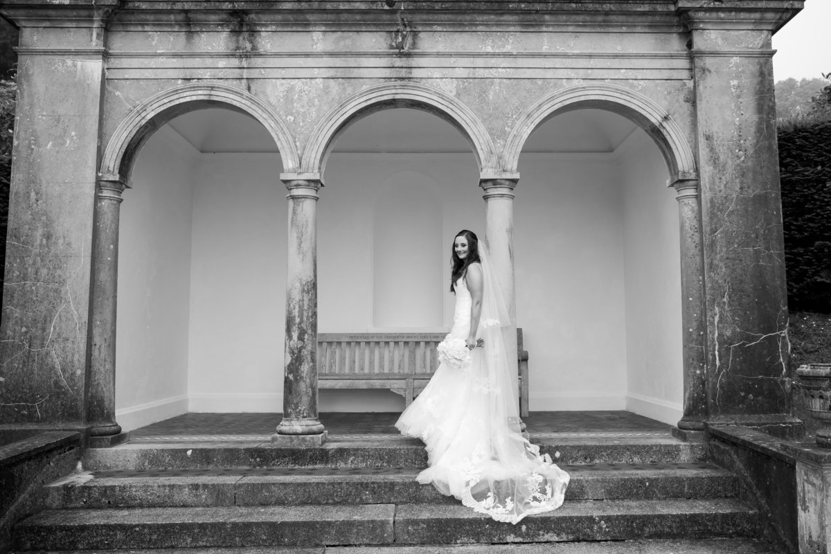 black and white wedding photographer devon