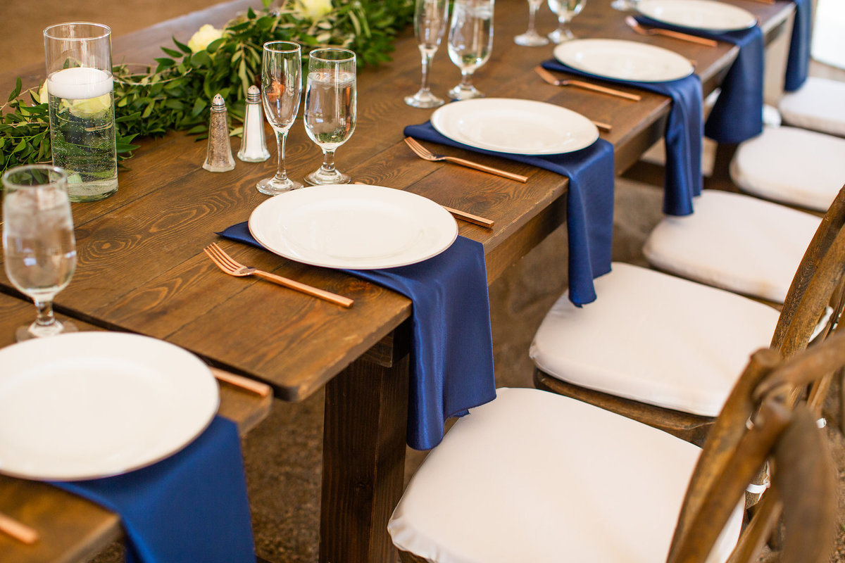 Strawberry-Creek-Ranch-Wedding-Ashley-McKenzie-Photography-Romantic-Mountain-Affair-Navy-Blush-Colorado-table-setting