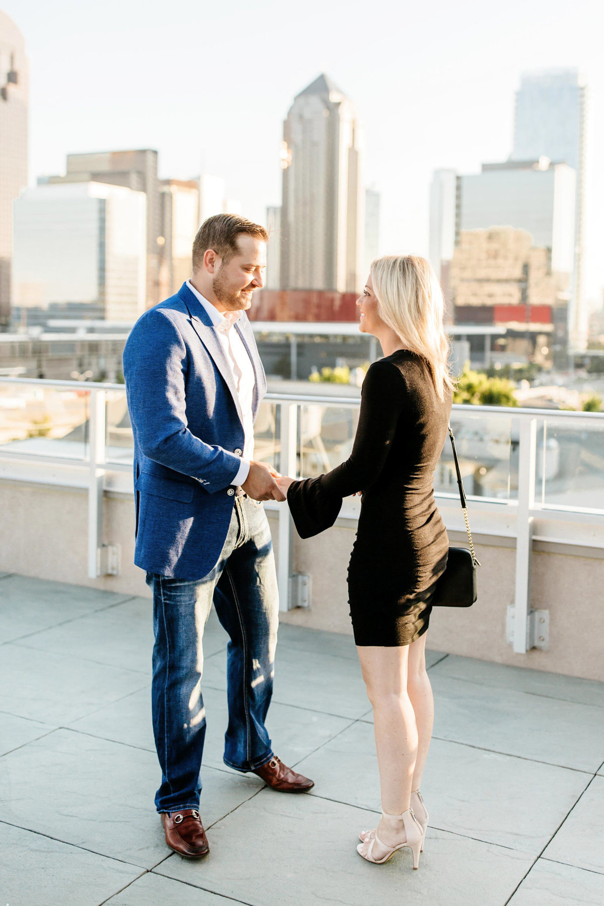 Eric & Megan - Downtown Dallas Rooftop Proposal & Engagement Session-23