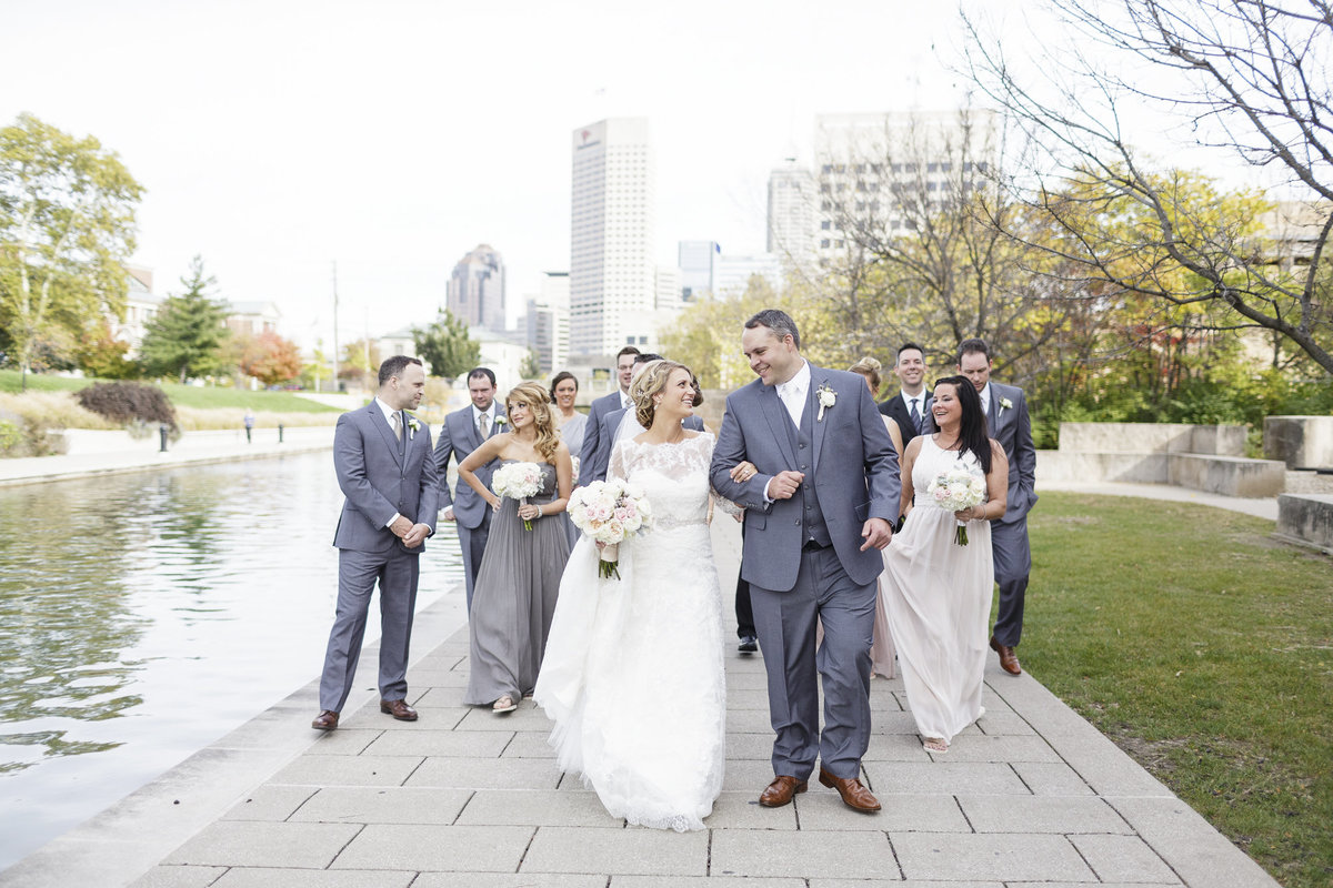 Wedding party picture taken by Erika Brown Photography