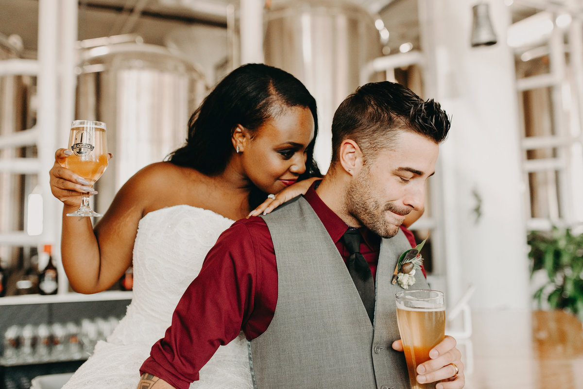 mn industrial wedding brewery