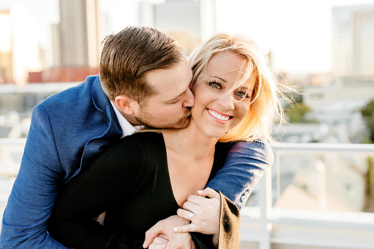 Eric & Megan - Downtown Dallas Rooftop Proposal & Engagement Session-75