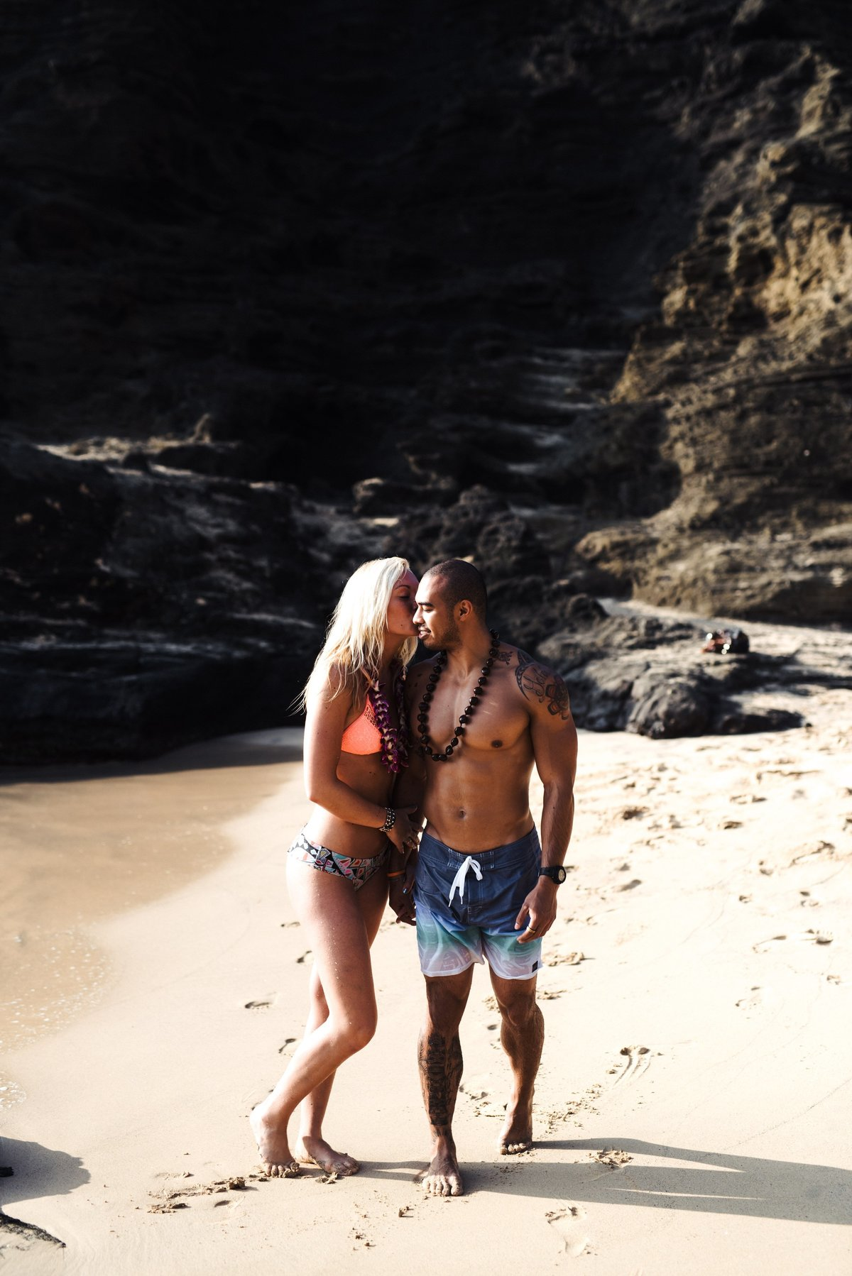 Eternity Beach Honolulu Hawaii Destination Engagement Session - 88