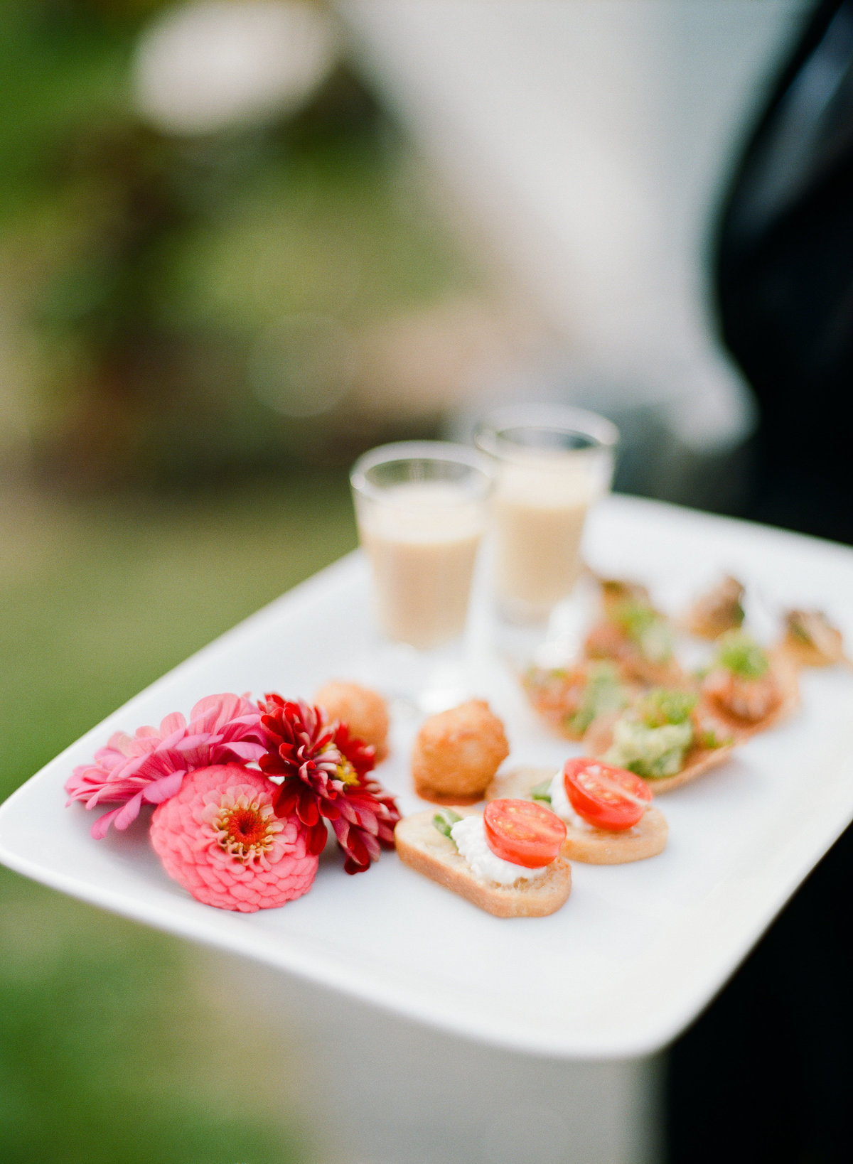 mezze catering appetizers cocktail hour boston backyard wedding