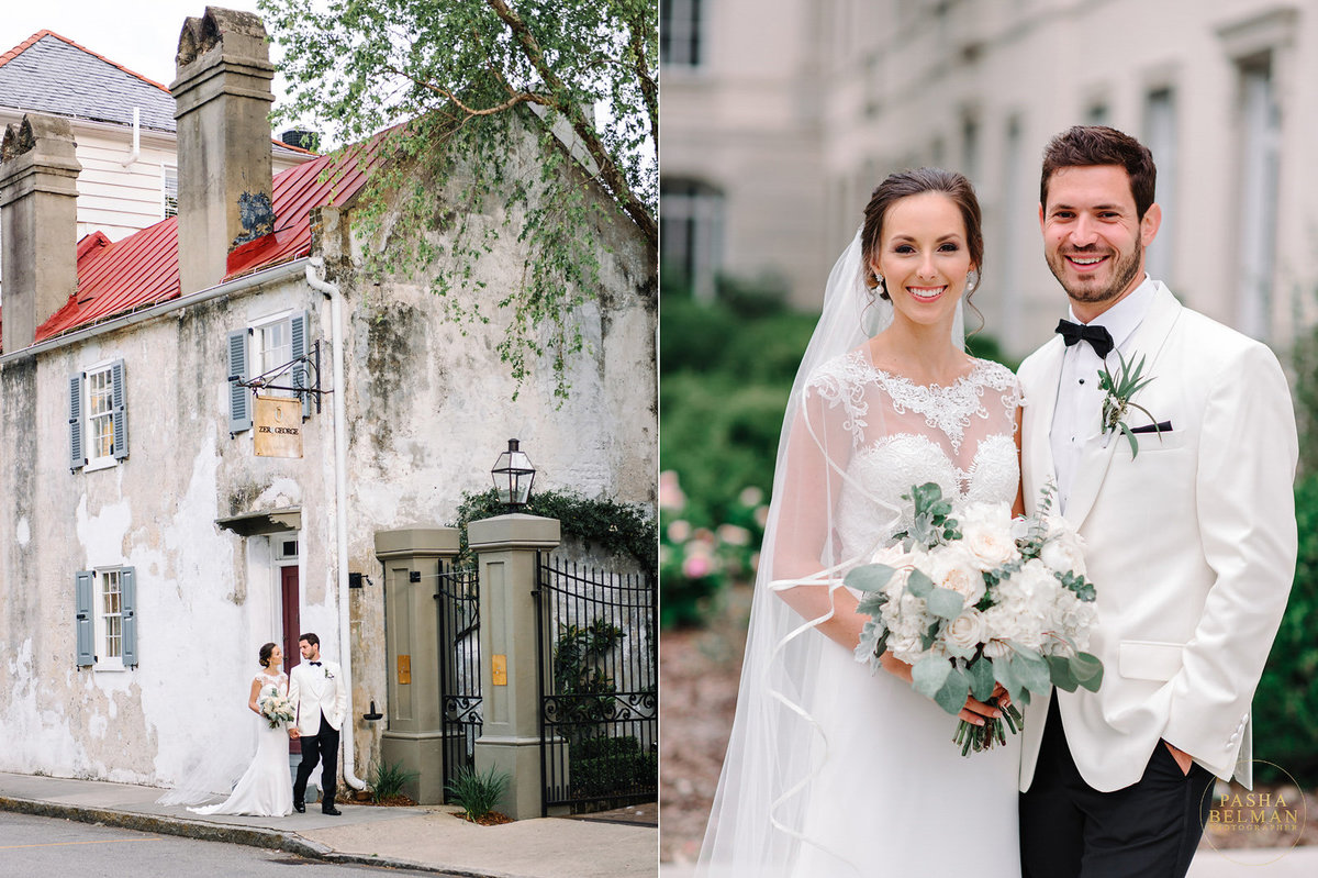 Ceremony at the historic Gadsden House Charleston | Charleston Wedding Photographer