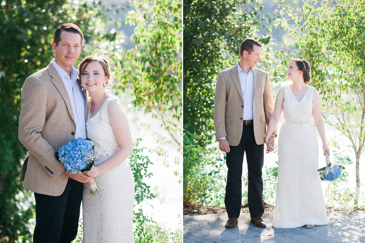 outdoor portraits of bride & groom in Oregon City, OR | Susie Moreno Photography