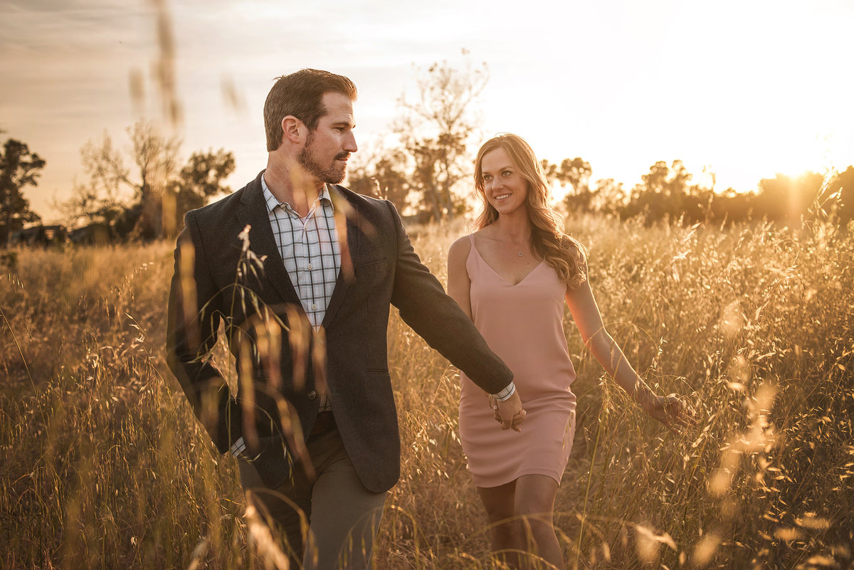 meadow engagement session