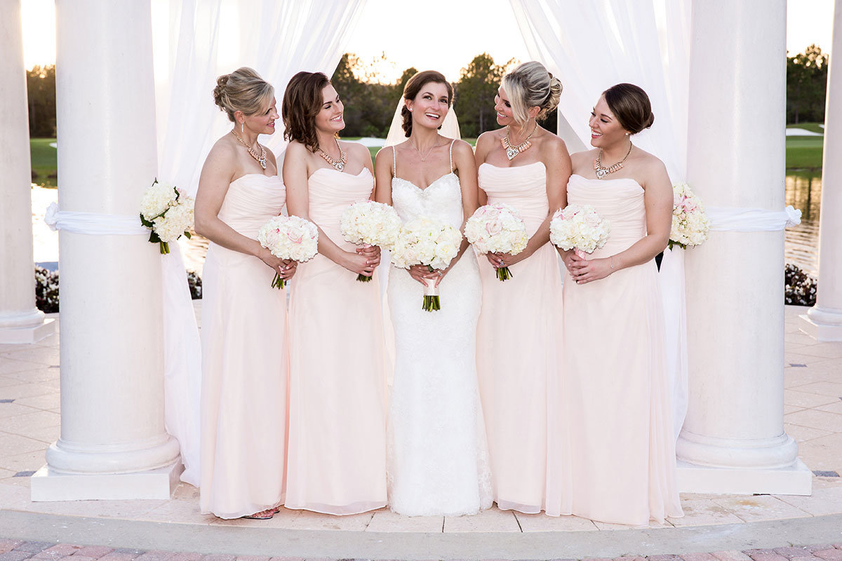ritz carlton naples florida blush bridesmaids dresses