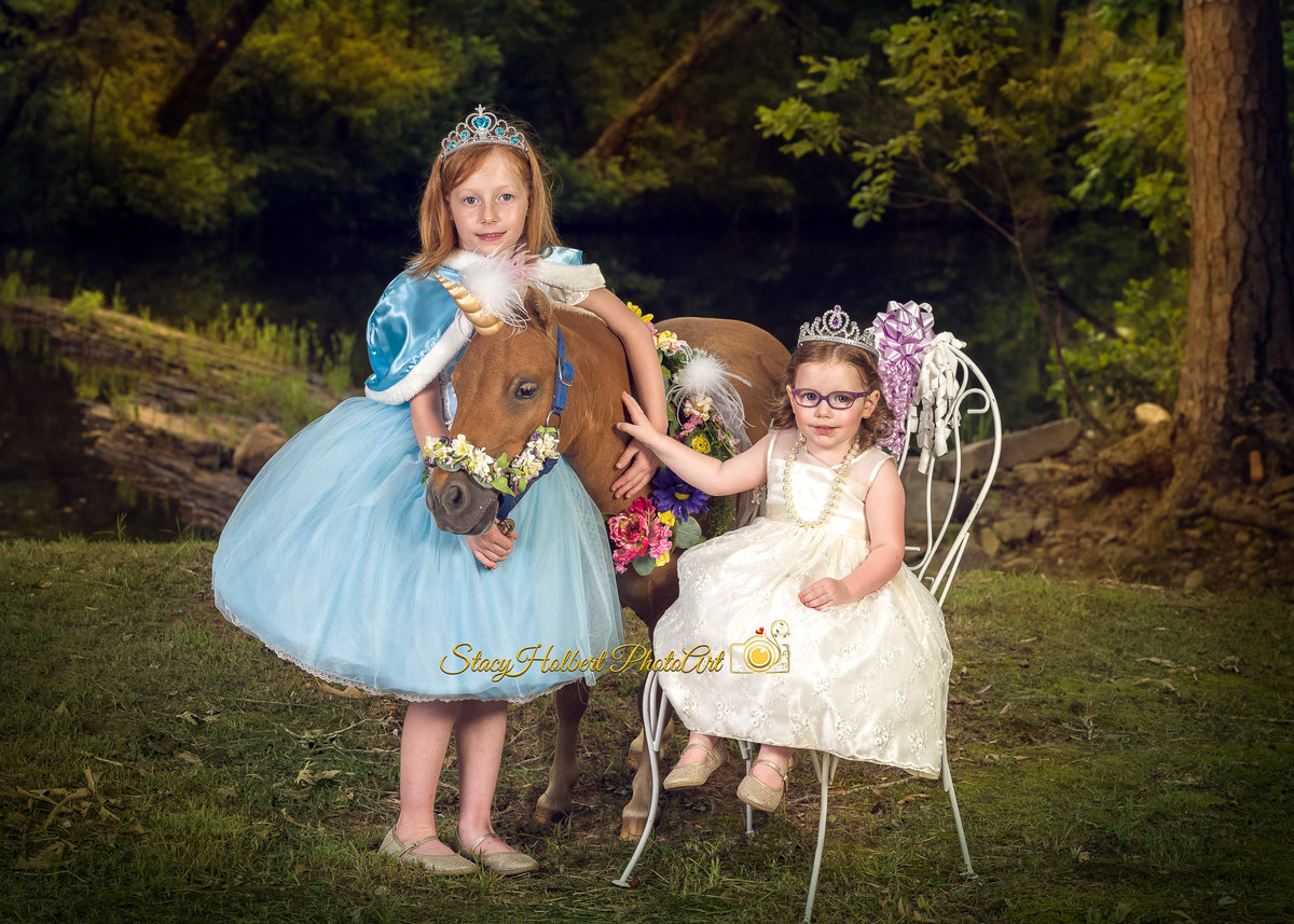 princesses with unicorn
