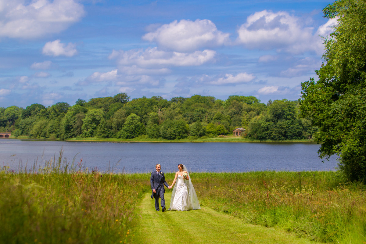 bride and groom portrait at chillington hall, wolverhampton