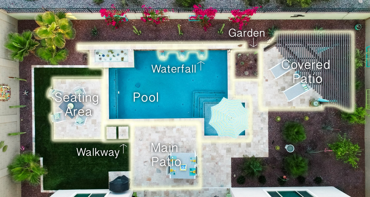 Interact with one of TKS Solutions landscaping projects.