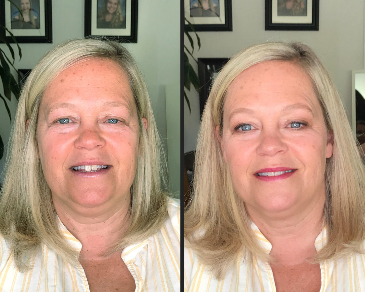 before and after makeup  - mother of the bride