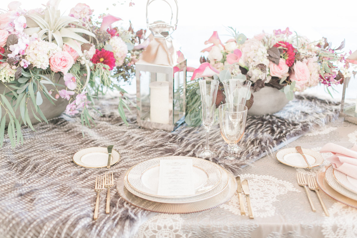 Luxe Rustic Wedding Reception Table