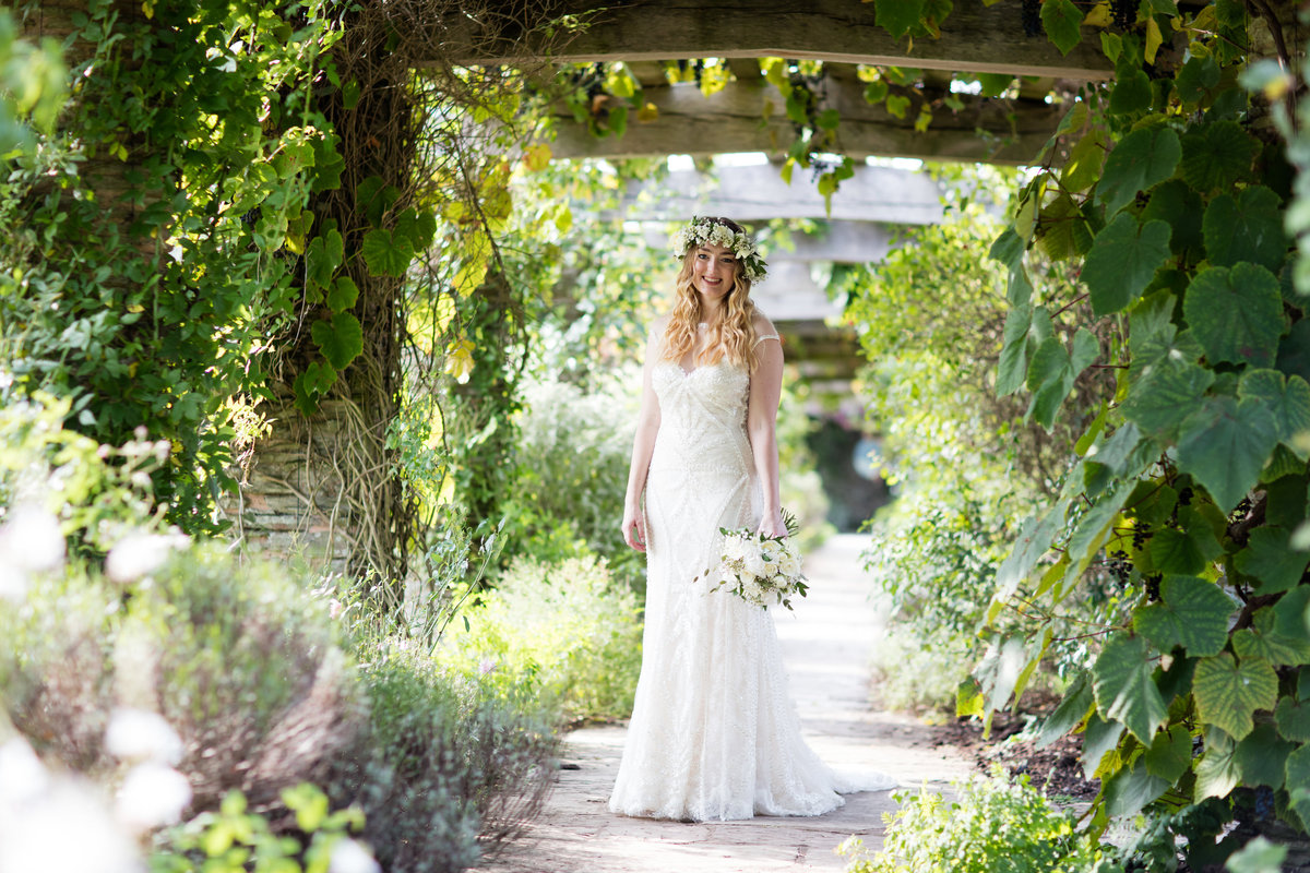 summer boho natural wedding hestercombe