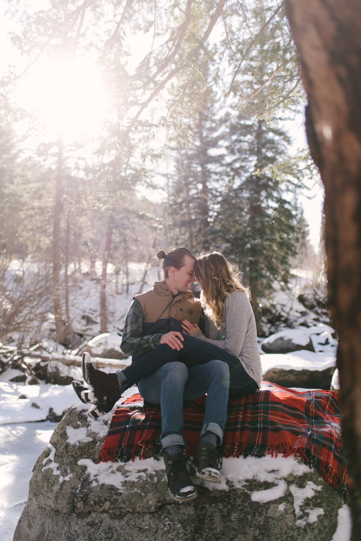river winter engagement