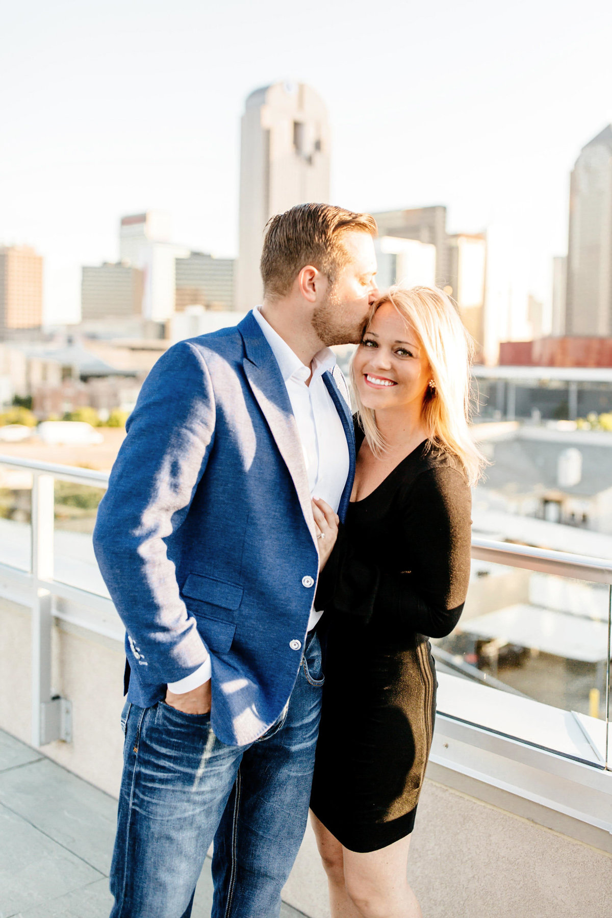 Eric & Megan - Downtown Dallas Rooftop Proposal & Engagement Session-66