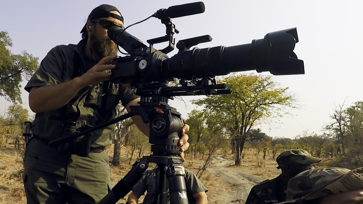 In the field with Jason Miller and Raven 6 Studios while filming outdoor related content in Namibia with Omujeve Safaris