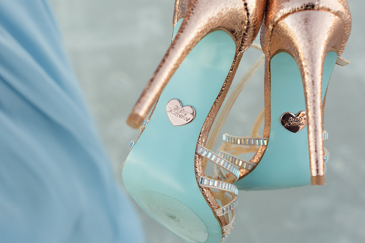 Betsy Johnson rose gold shoes