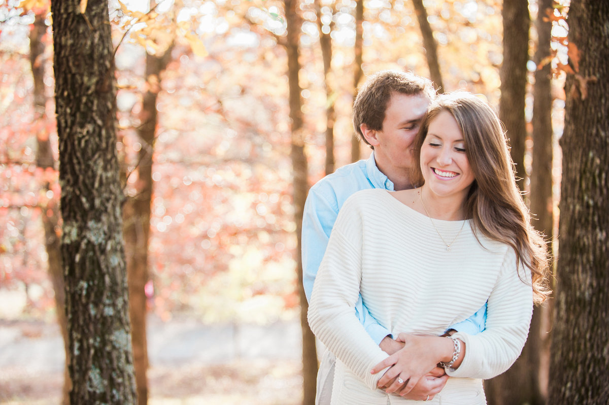 Bentonville and Fayetteville Engagement and wedding photographer, NWA wedding and engagement photographer, engaged couple in love kissing, engagement photo inspiration-21