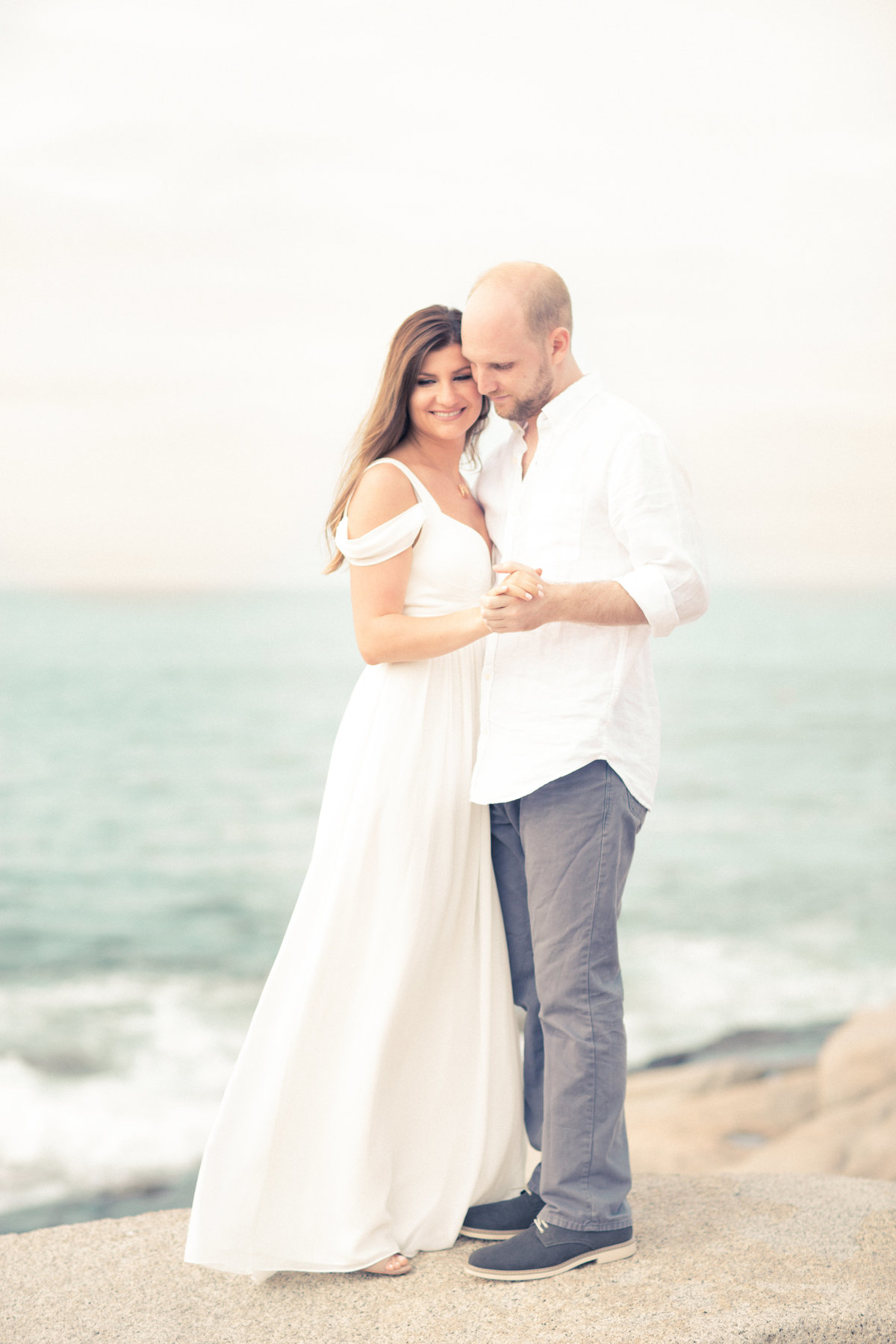 Boston MA Ocean front engagement session Mimoza+Jared-16