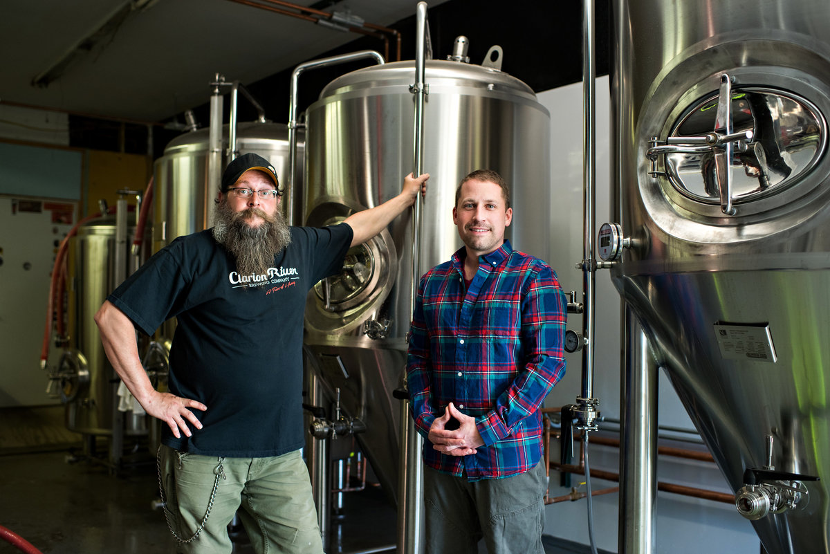 Owners of a new micro brewing company.