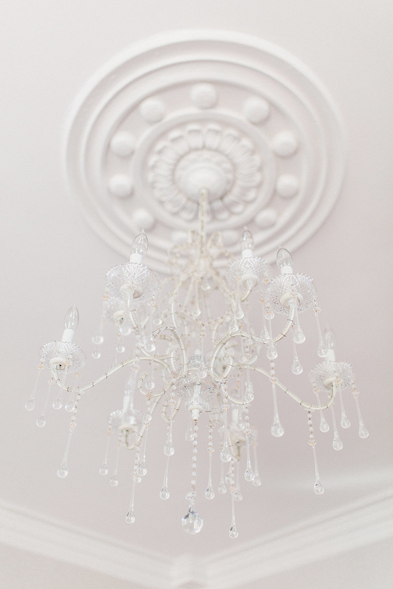 raleigh wedding venue chandelier