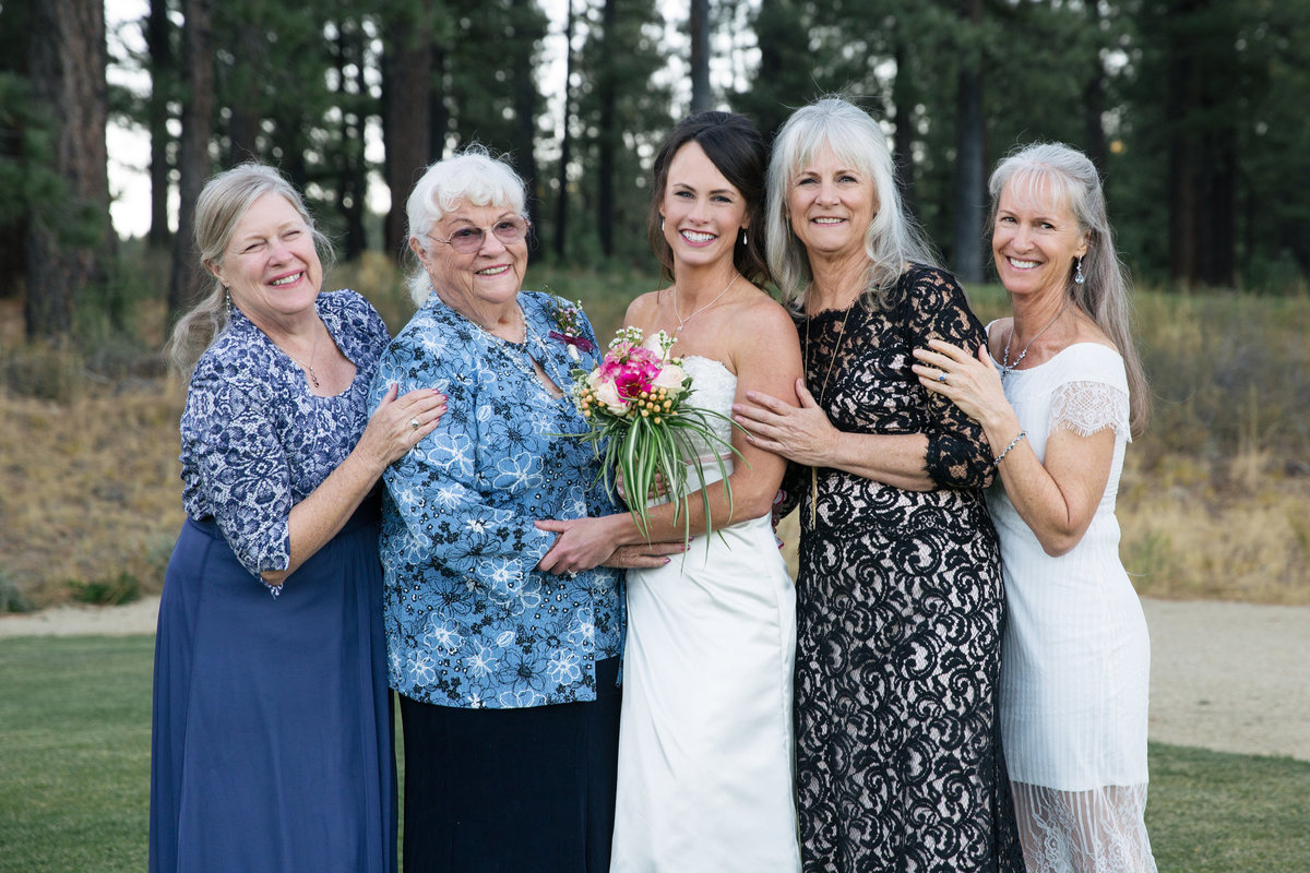 generations photo at wedding Lake Tahoe CA