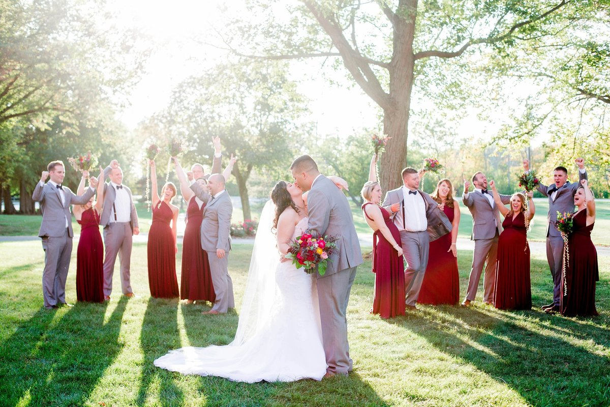 Burgundy Nazareth Hall Fall Wedding by Toledo and Detroit Based Wedding Photographers Kent & Stephanie Photography_0771