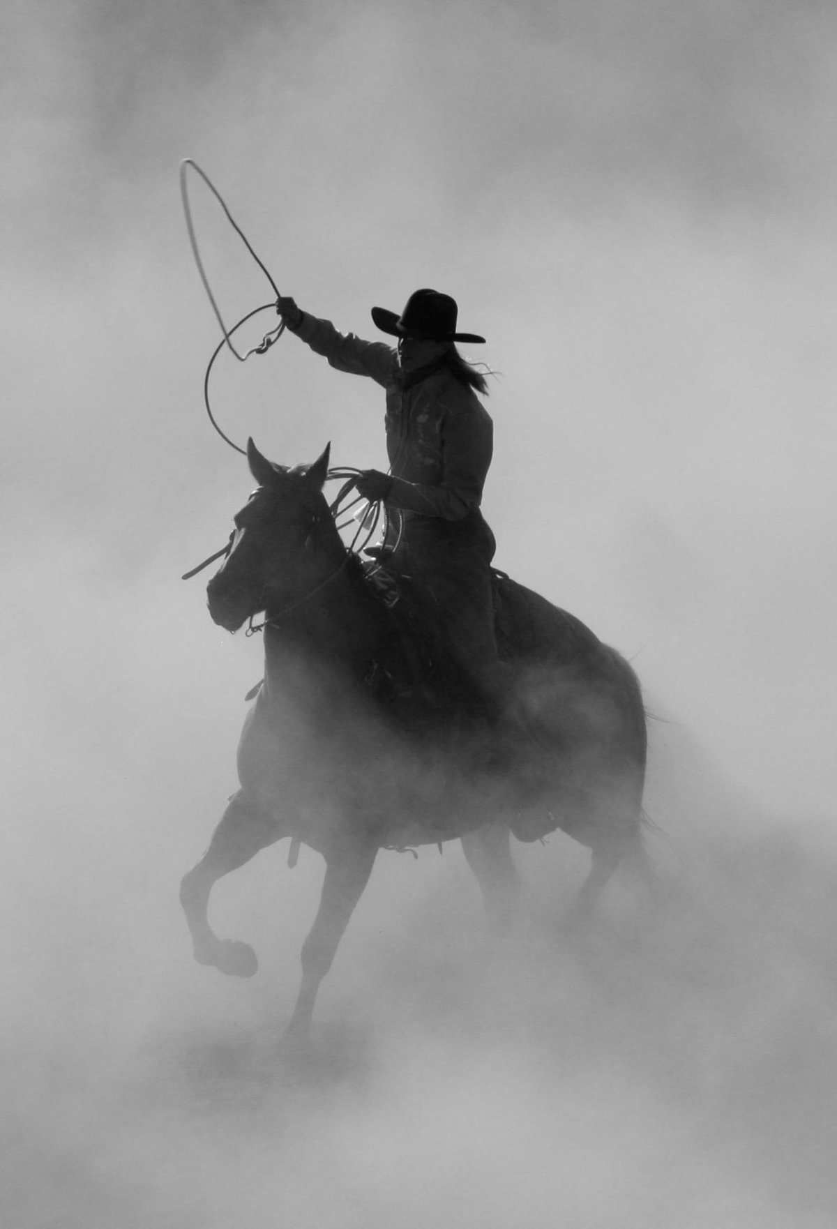 cowboy in dust photographer  Lynette Smith Photography