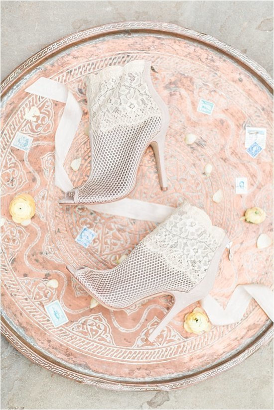 Copper Wedding Detail Inspiration Lace Shoes