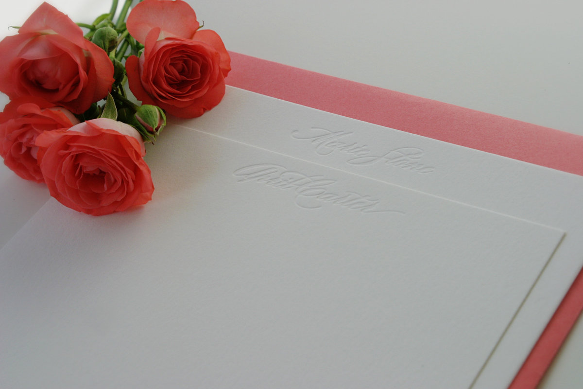 Blind Personalized Stationery