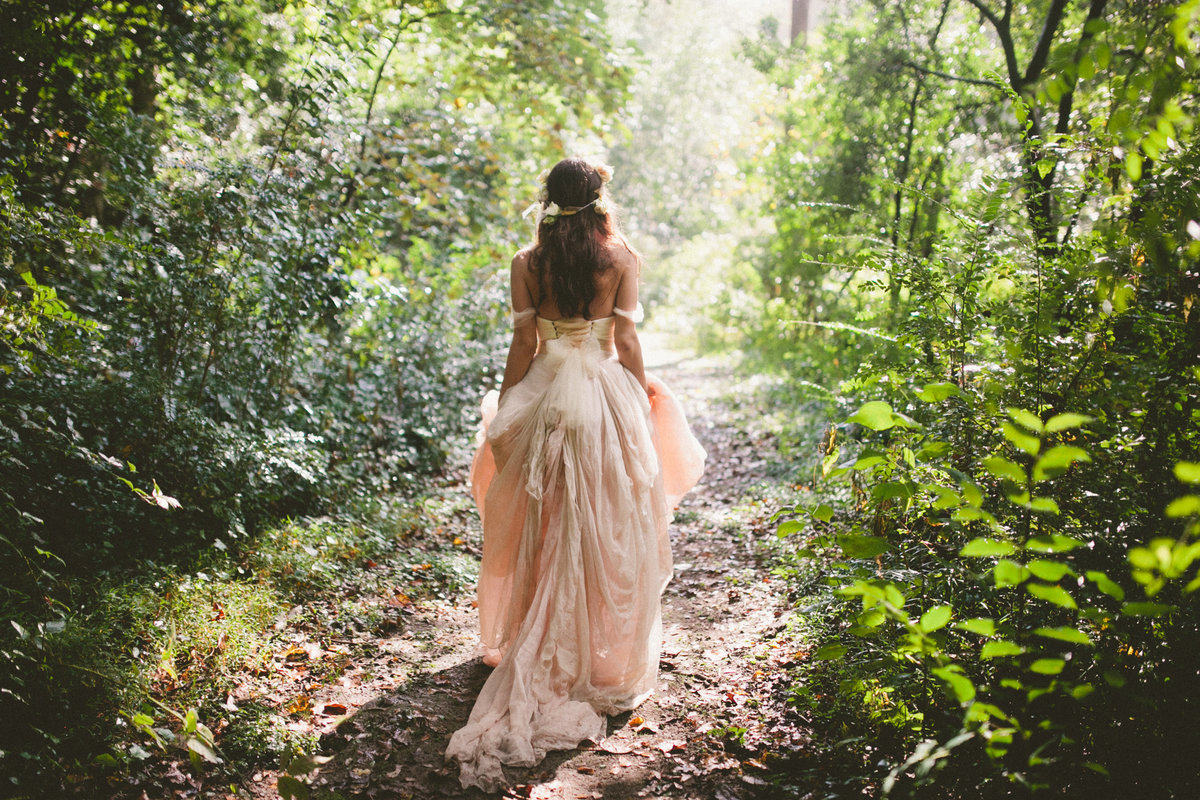 Boho Bride at Cator Woolford Gardens