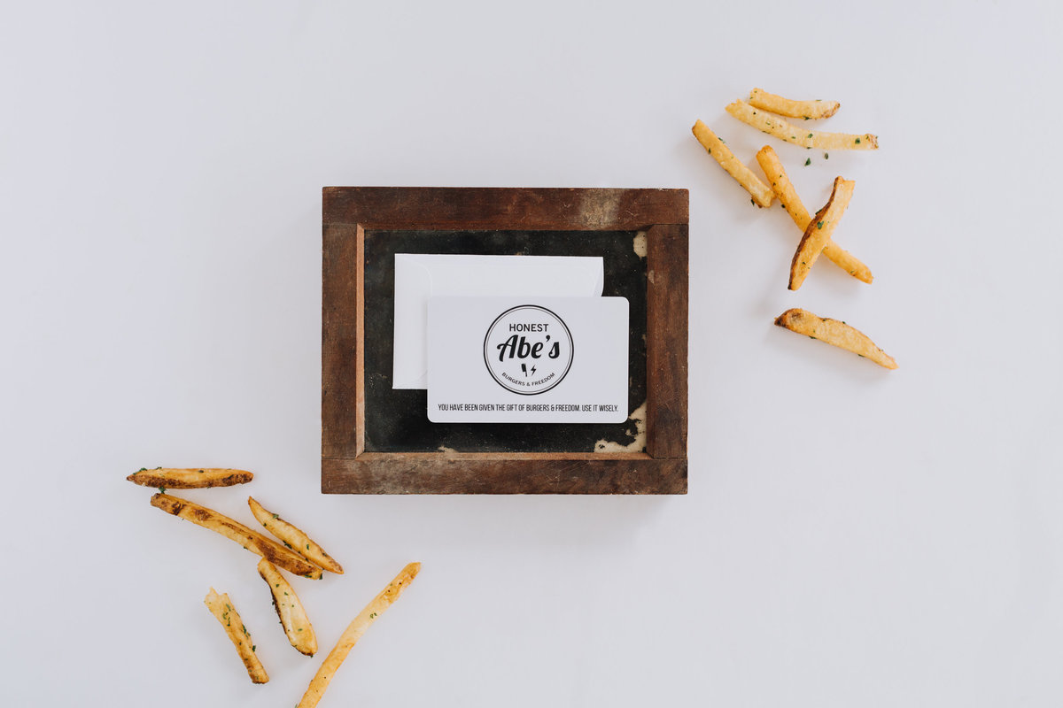 honest abes burgers gift card french fries