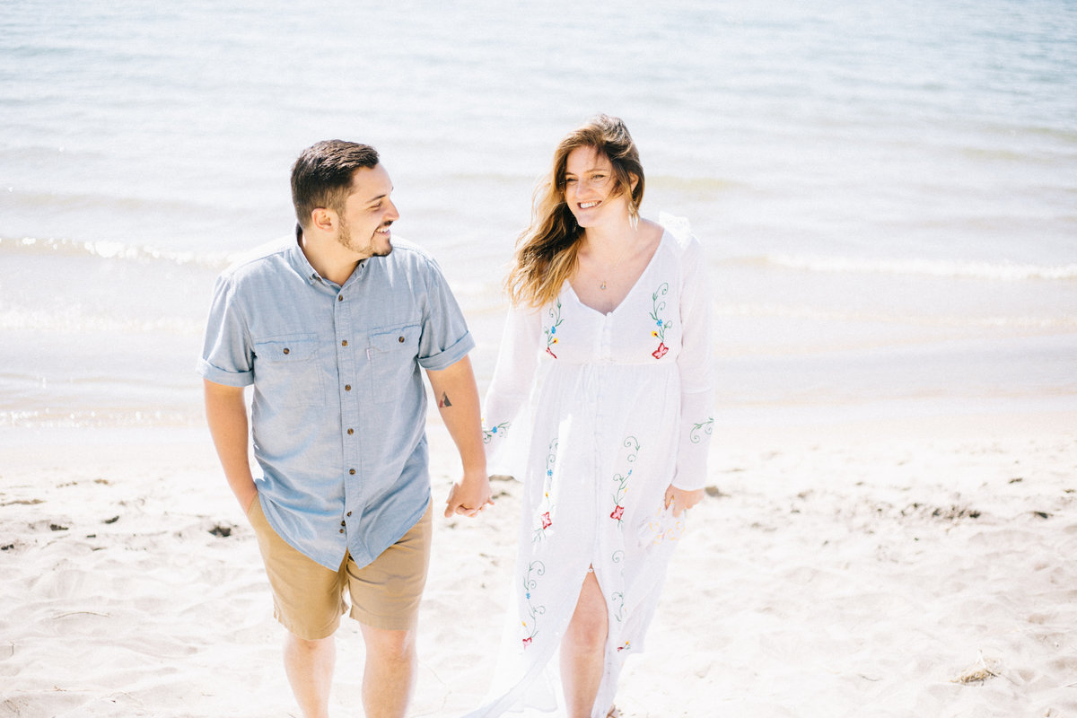 Saugatuck Engagement photo by Sidney Baker-Green