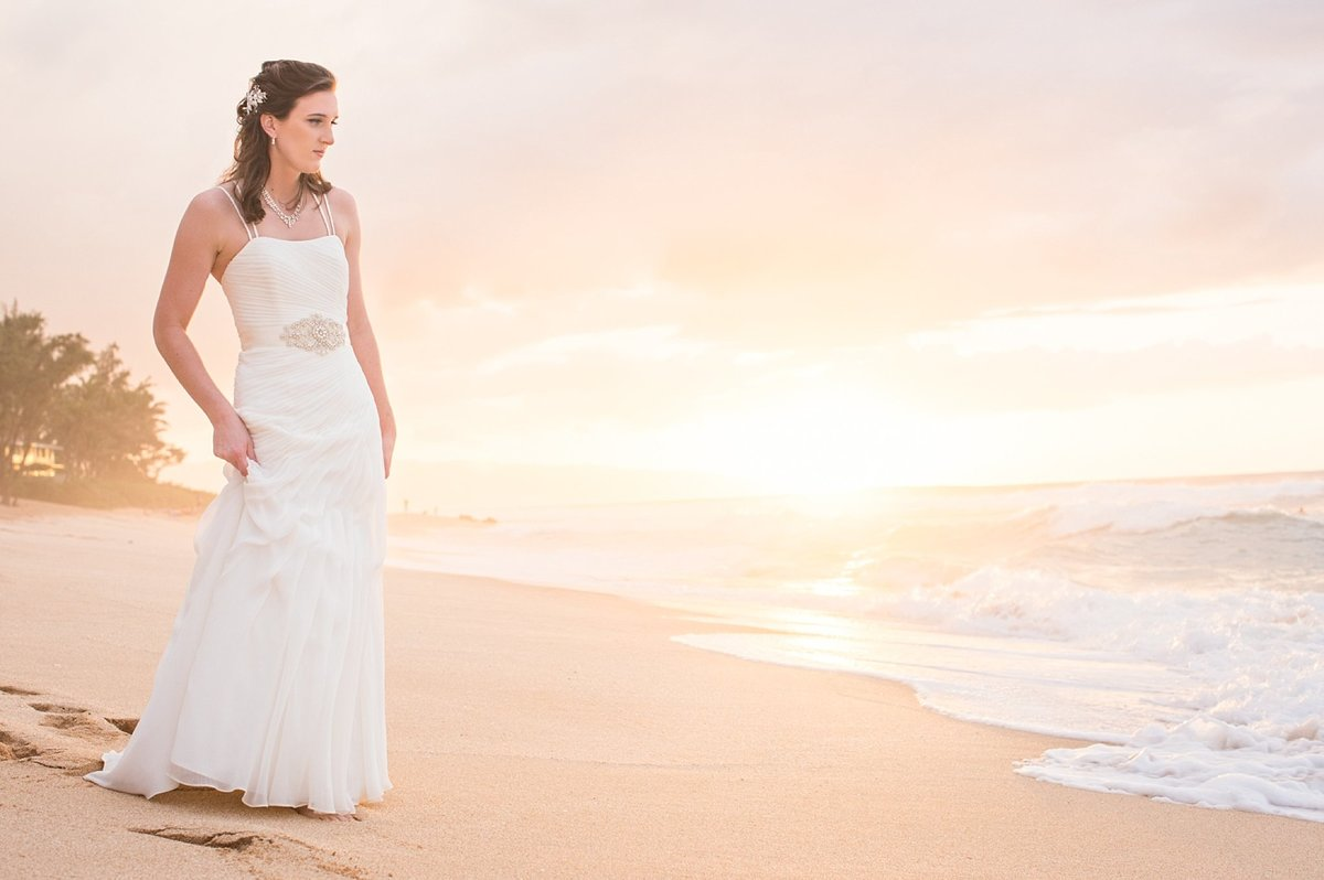 Sunset Beach Oahu Hawaii Wedding_111