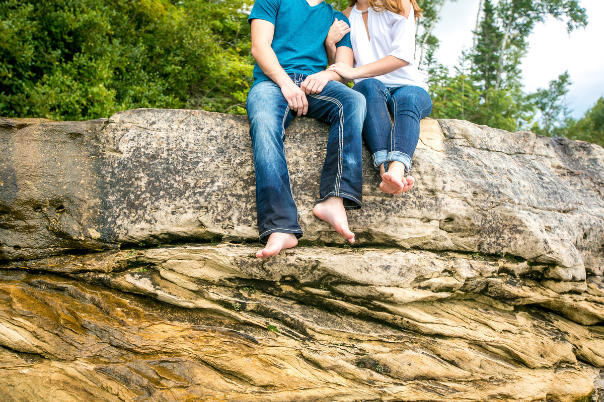Brice & Kelsey Adventure Engagement Session at Pictured Rocks  Photos by Amenson Studio-0036