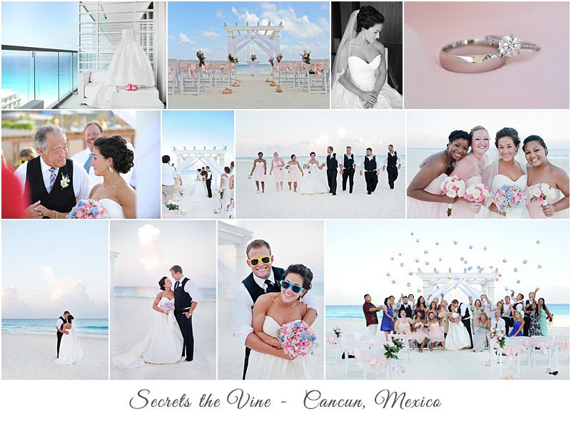 Cancun mexico beach wedding