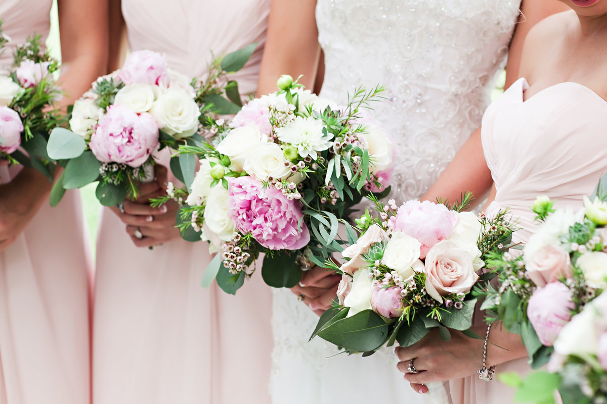 Savannah Whitefield Bethesda Spring Wedding Bride Bridesmaids Peonies Pink Flowers