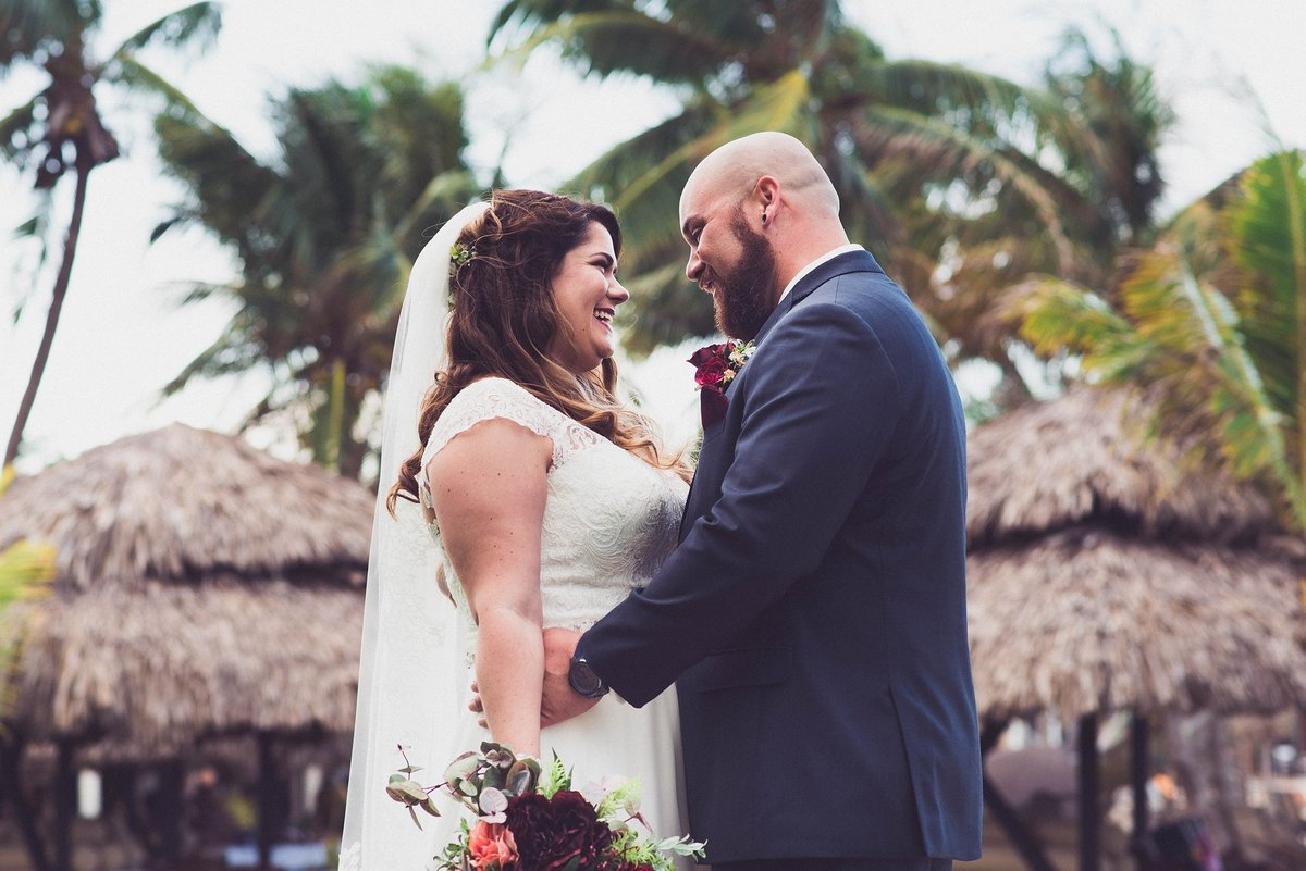 bride and groom destination wedding in jamaica