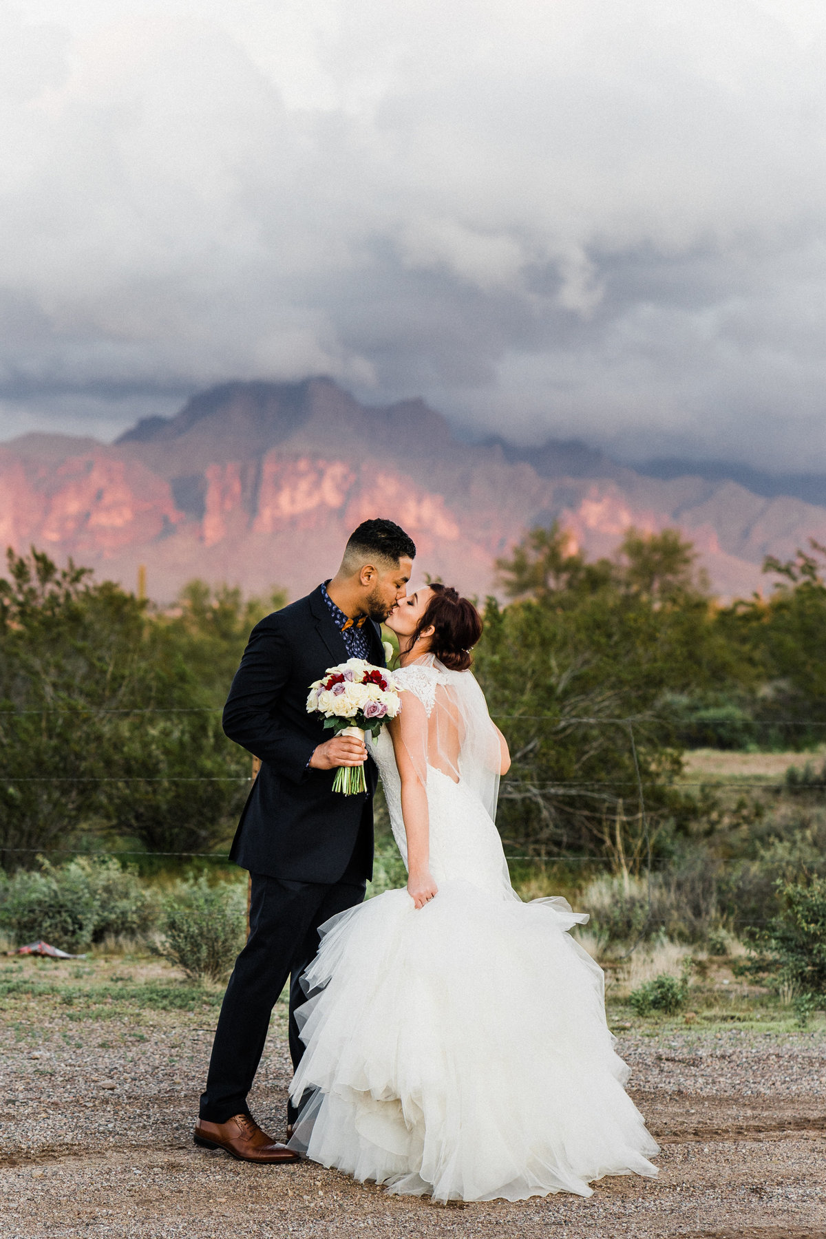 Arizona Wedding At Superstition Manor During Monsoon - Atlas Rose Photography AZ 01