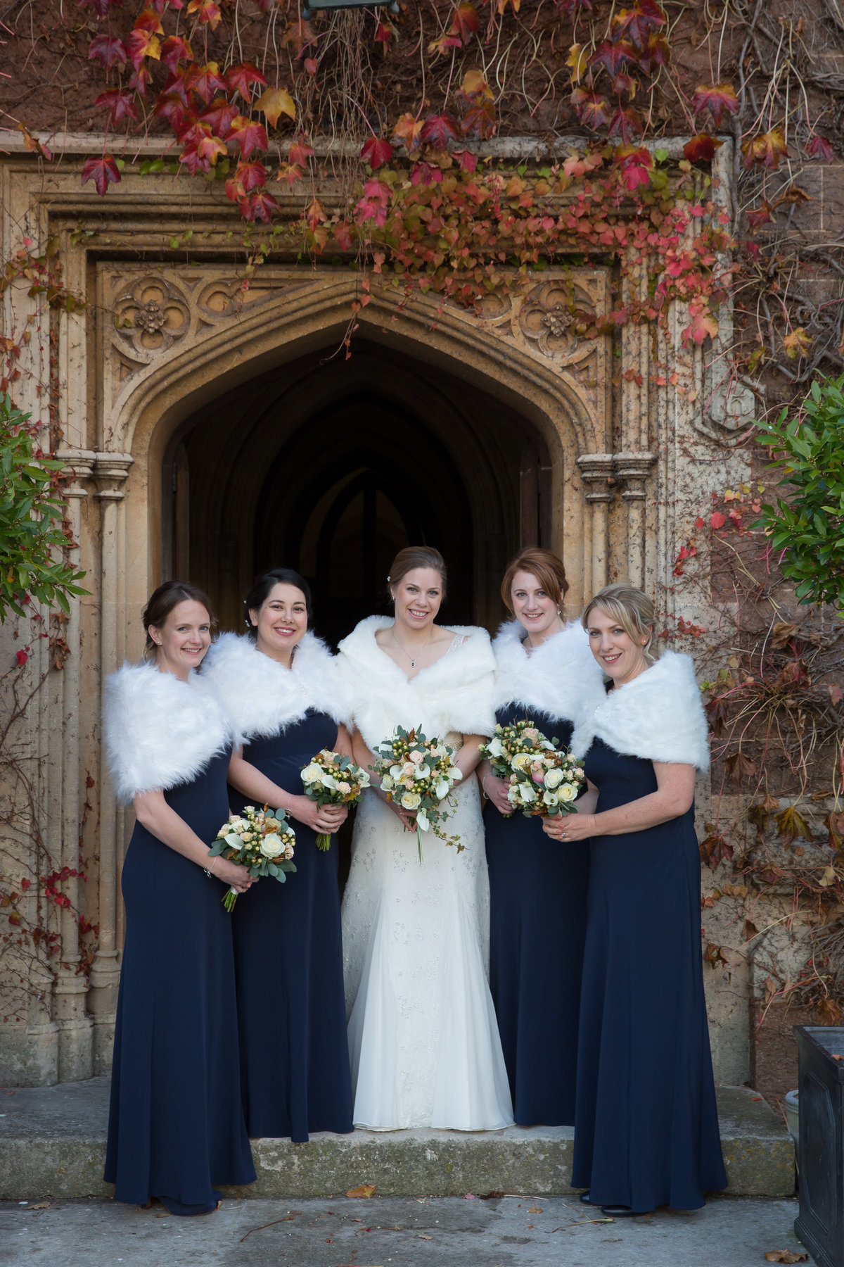 winter at st audries park wedding