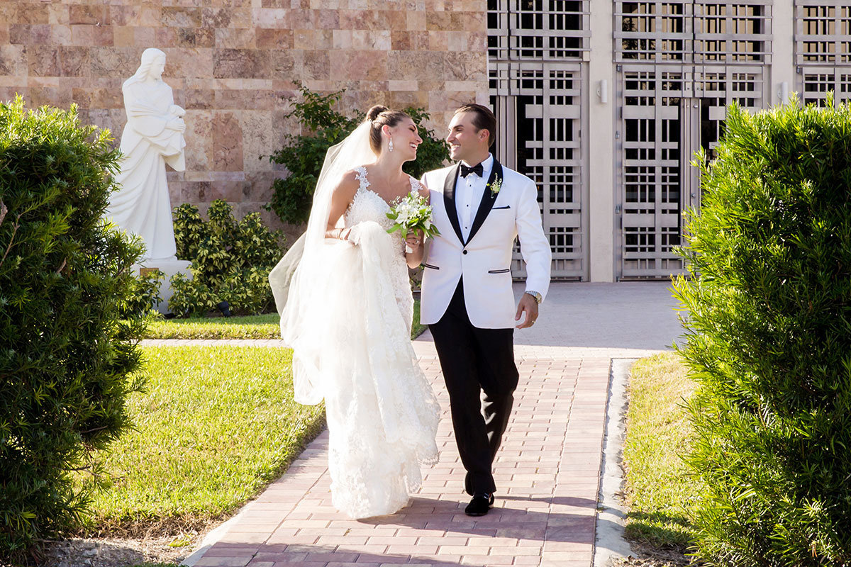 st agnes catholic church naples florida wedding photo