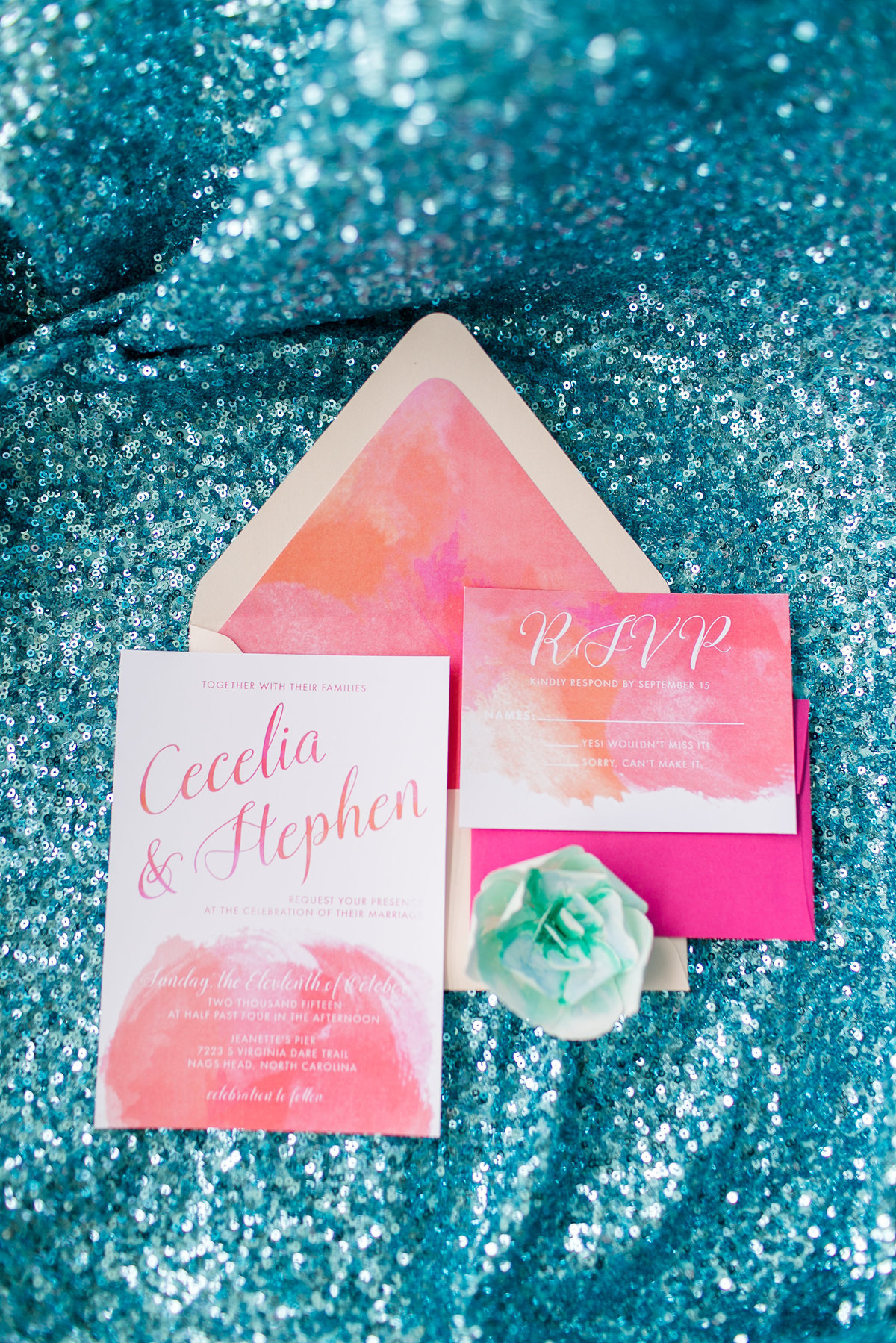 cheerful-teal-pink-yellow-purple-oceanfront-outer-banks-wedding-venue-shoot-14