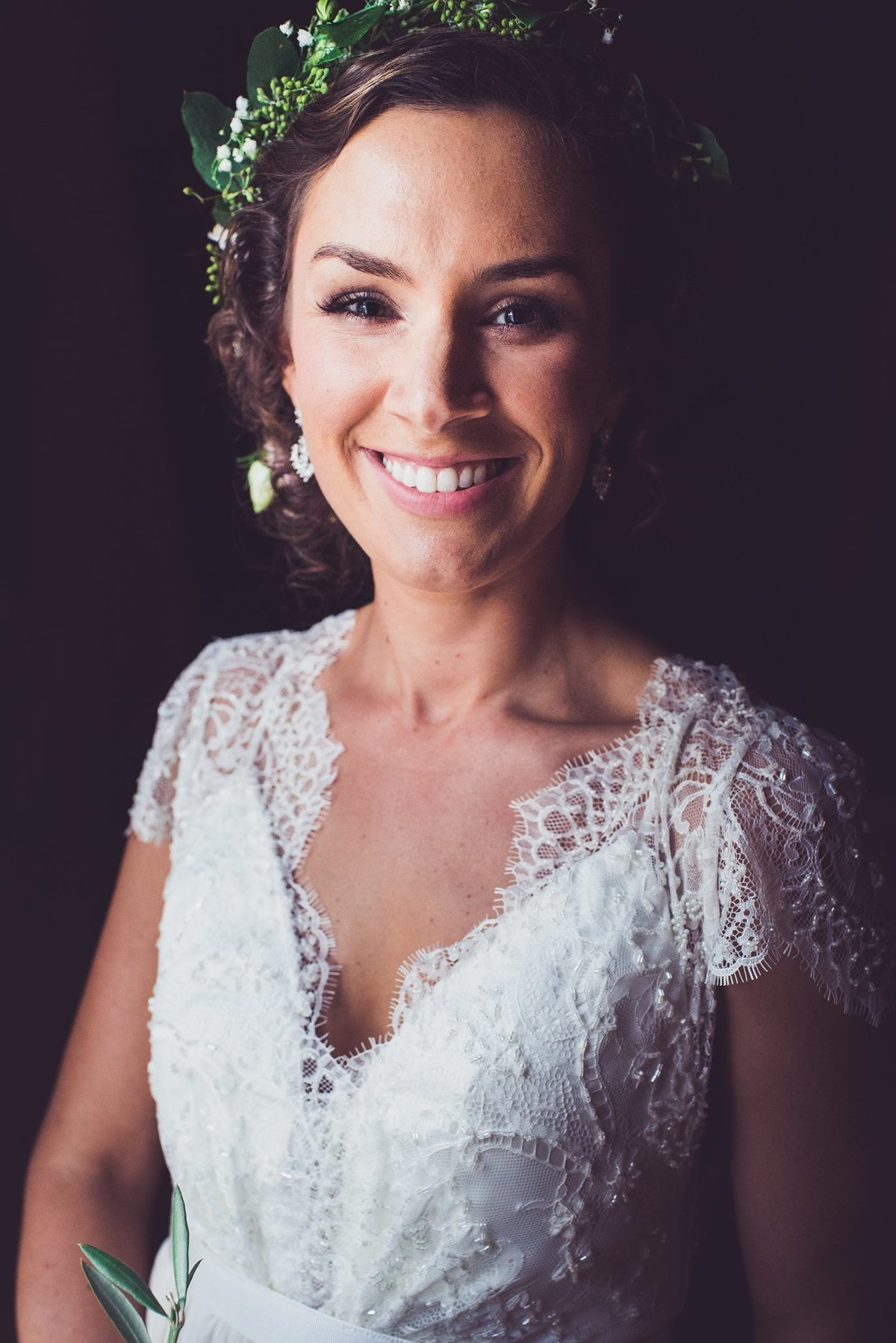 bridal portrait at bittersweet farm restaurant