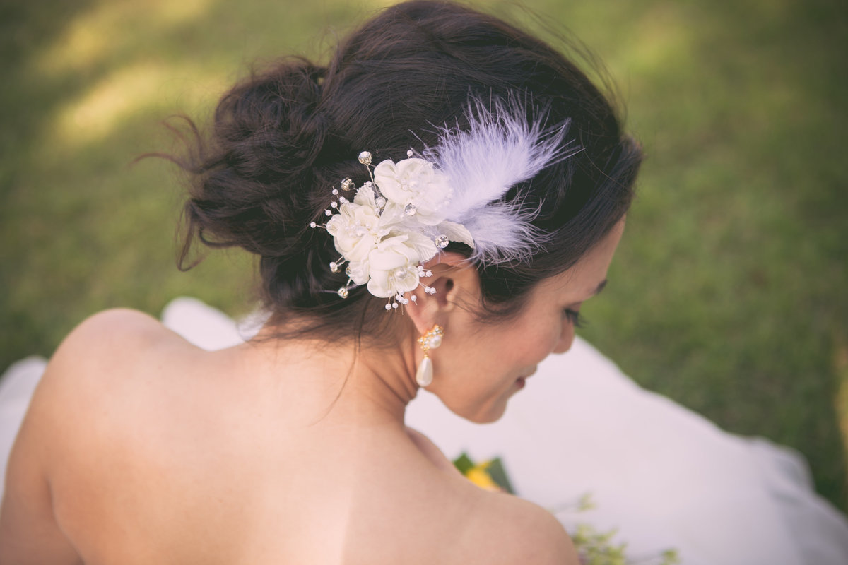 Austin Family Photographer, Tiffany Chapman, bride hair piece photo
