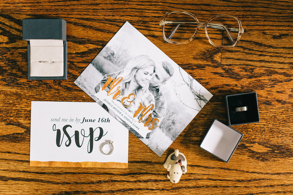 Grand Rapids Michigan wedding invitation photo by Sidney Baker-Green