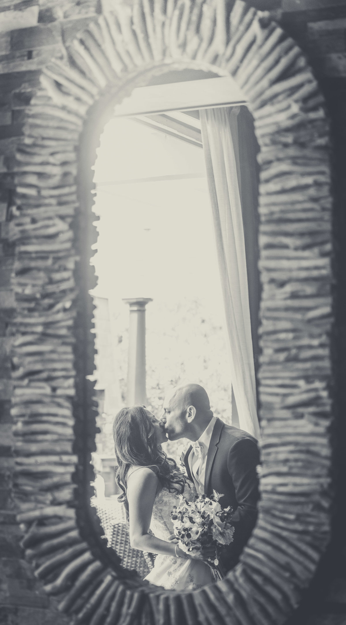Wedding Portrait - Insignia Steak House, New York - Imagine Studios Photography - Wedding Photographer