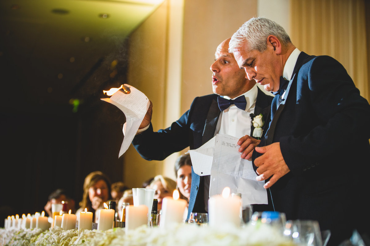 best man sets fire to his wedding speech on candle by accident in this greek wedding